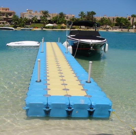 Floating dock floating bridge floating platform jek ski dock for Floating fishing platform
